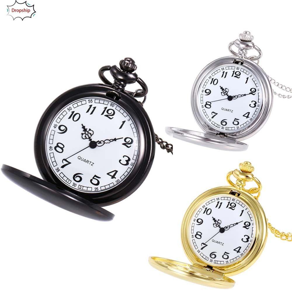 3c68149eb5c Compre OTOKY Homens Relógios Coroa Unisex Moda Cadeia De Bronze Colar  Relógio De Bolso Homens Relógios DropShipingAug13 De Jam07