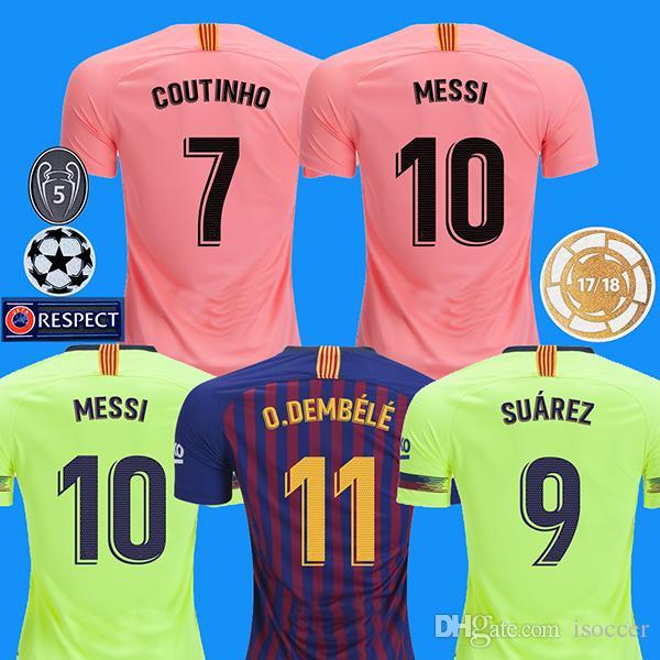 18 19 Messi Soccer Jersey Barcelona 2018 2019 Camiseta De Futbol Coutinho  Football Shirt Suarezcamisa De Futebol Dembele Maillot De Foot Por Isoccer 1af777f0514