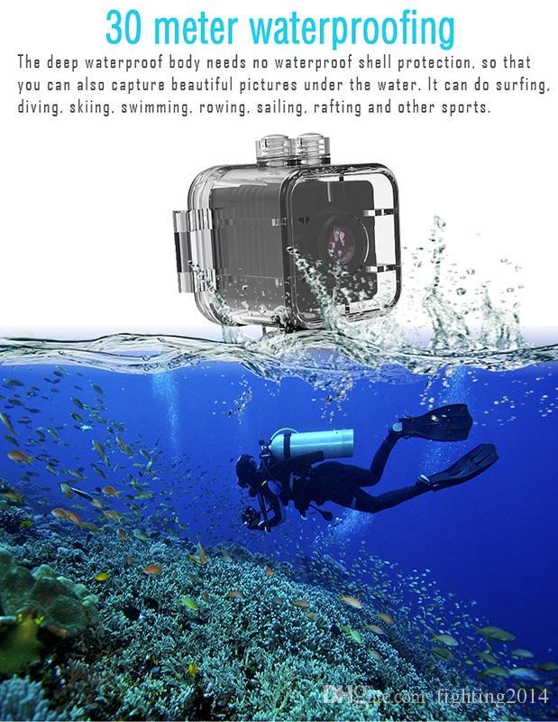 DVR de la cámara deportiva impermeable SQ12 con la detección de movimiento de la visión de la noche de infrarrojos Full HD 1080P 720P Mini DV cámara grabadora de video