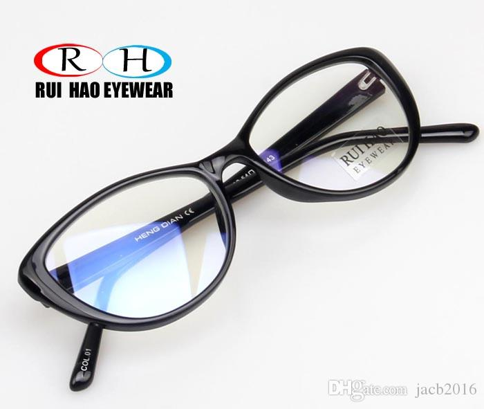 Vintage Computer Glasses Eyewear Spectacles Black Fullrim Frame Eyeglasses Shade Bookworm Optical Plano Clear Lens Antirrelefctive Butterfly