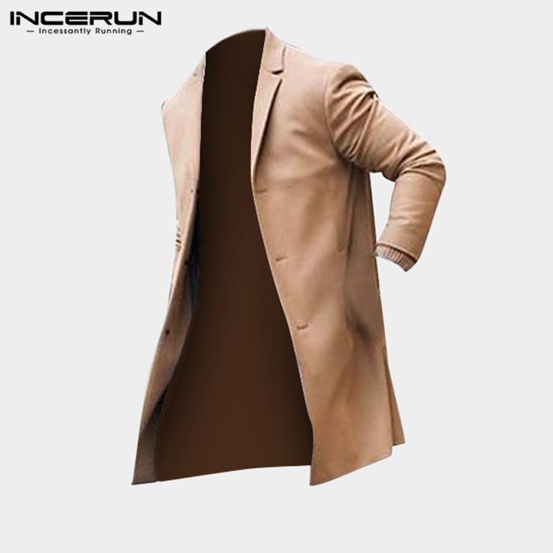 cheaper ad015 09ce1 Classico Uomo Trench Giacche lunghe Cappotti Solid manica lunga Casual  antivento Slim Fit Outwear Moda Plus Size Overcoat 5XL