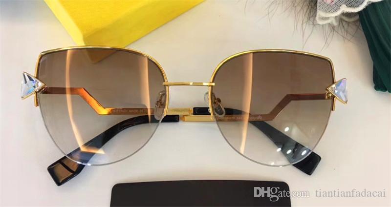 Nuevas mujeres de la moda gafas de sol de las gafas de sol 0242 hombres simple y hombres generosos vidrios de sol al aire libre gafas de protección UV400 con el caso