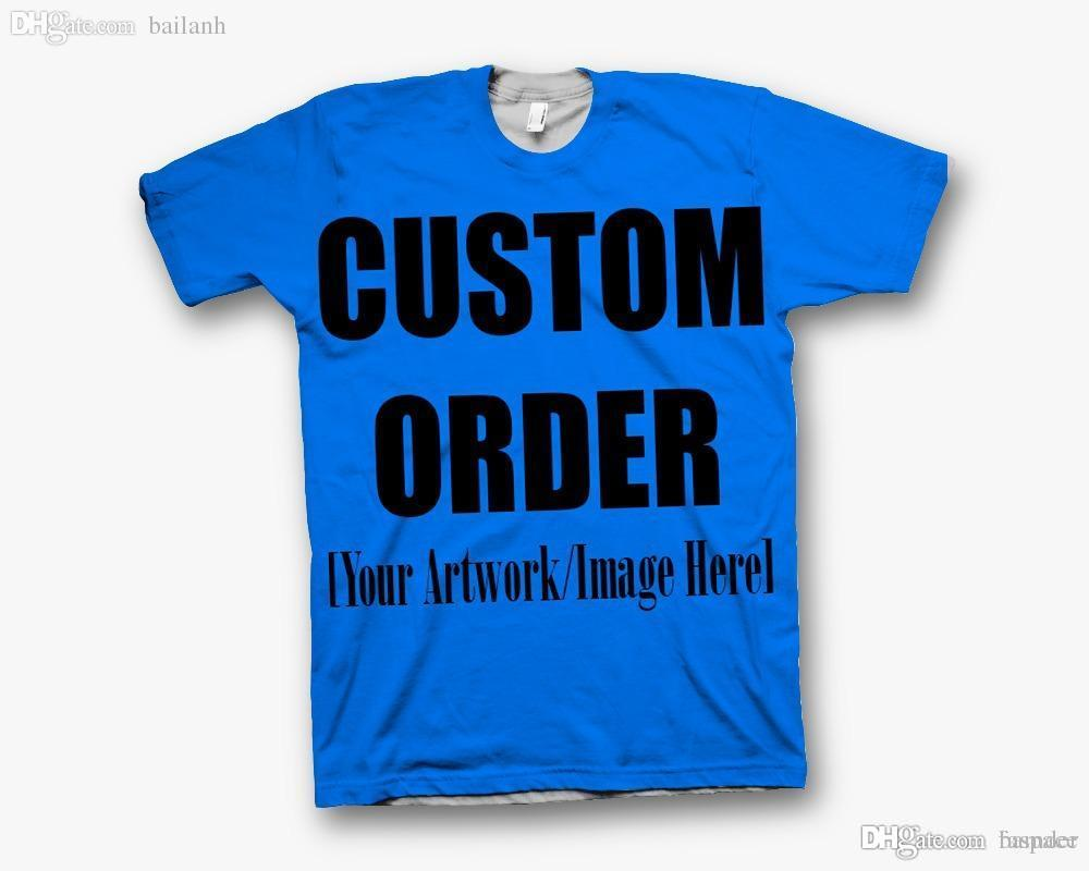 57e8c6d0b Wholesale Custom Create Your Own 3D Sublimation Print T Shirt REAL USA SIZE  Buy Cool T Shirts Funky Tee Shirts From Bamder, $31.71  DHgate.Com