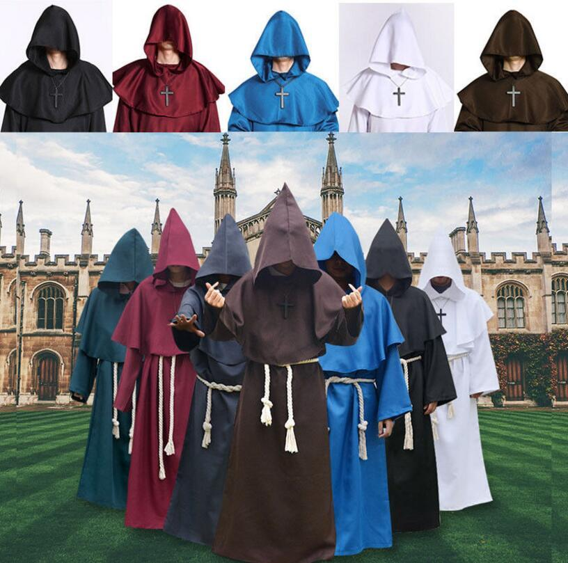 Medieval Monk Cowl Robe Halloween Hooded Cowled Fancy Cosplay