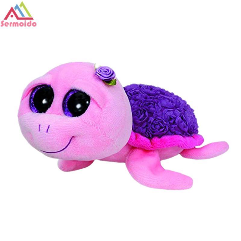 48c68cb20ea 2019 Sermoido TY 6   Beanie Boos Plush Rosie Pink Turtle 15cm Plush Stuffed  Animal Doll Toy Collectible Big Eyes Dolls Toys DBP206 From Yohkoh