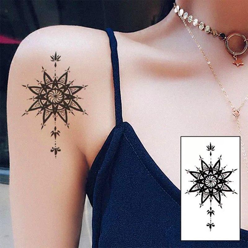 New Waterproof Temporary Tattoo Sticker on body cool mandala Water Transfer  flash tattoo fake girl boy free shipping