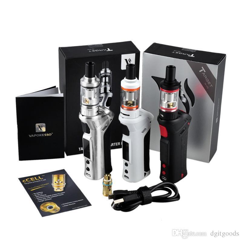 Vaporesso Alvo VTC 75 W starter Kit Controle de Temperatura TC Caixa de VAPE Mod com 3.5 ml Tanque de Bobina De Cerâmica vs mini e kits de cigarro
