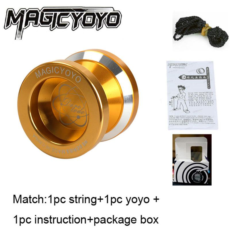 Professional Magic Metal Yoyo N8 Aluminum Alloy Metal Yoyo Ball KK Bearing Gold Color Classic Toy Yoyo
