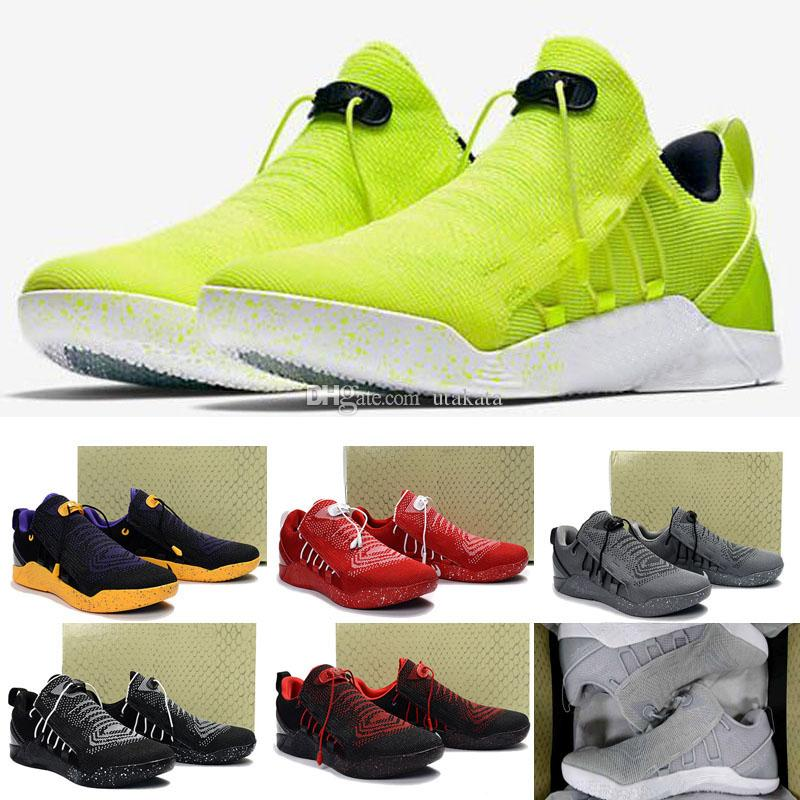 buy online 1c497 d5b1b 13 Colours 2017 New Mens KOBE A.D. NXT 12 Men KB Volt White Black AD WOLF  GREY Zoom Sport Shoes,Discount Cheap Basketball Shoes Running Shoes Men  From ...