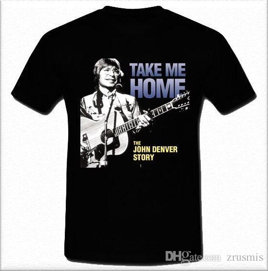 c590d61c19e New Summer Tops Casuals Shirts Short Sleeve Printing Crew Neck John Denver  Take Me Home American Singer Songwriter Mens Shirt Cheap T Shirts Long  Sleeve T ...