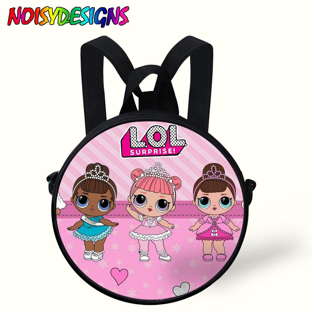 594404c1ff6 Compre Mini Lindo Bolso Redondo Niños De Dibujos Animados Muñecas Lol Mochila  Original Para Niños Niñas Bolsa De Bebé Bolsa De Jardín De Infantes Mochila  ...