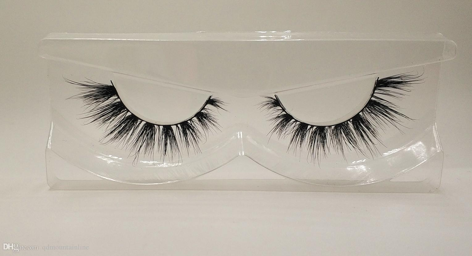 3D Mink False Eyelashes 100% Mink Fur Long Thick Hand-made Reusable Eyelashes Natural 1 Pair Pack MTL802