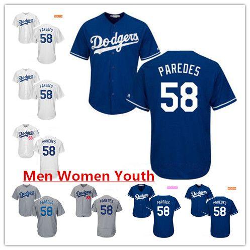 2019 Best 2018 New Men Women Youth  58 Edward Paredes Jerseys LA Blue White  Gray Alternate Stitched Flex Base Cool Base Jerseys S XXXL From  Sportscenter98 5c355322f4f