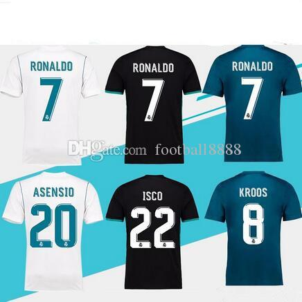 2018 Champions League Soccer Jersey 2017 18 Real Madrid Home Away ... d6b4dc67b