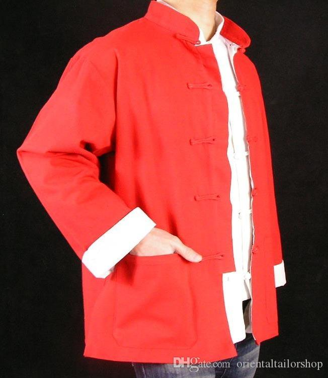 fab01bd008 Fine Linen Red Kung Fu Martial Arts Tai Chi Jacket Coat  YNHAGFWY115 XS XL  Or Tailor Custom Made Hockey Jacket Coat Or Jacket From Orientaltailorshop