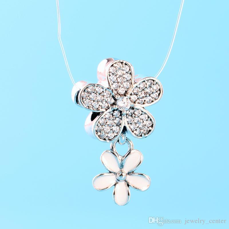 42044d98a3b0 Authentic 925 Sterling Silver Cherry blossoms Pendant Charm Charms Original  gift box for European Pandora Bracelets & Necklace