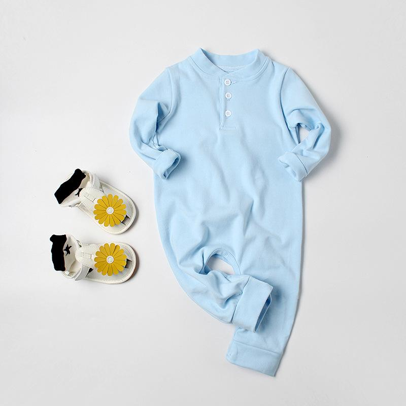 Baby Boys Clothes Angel Wings Newborn jumpsuits Cotton Baby Girls rompers Long Sleeve Spring Autumn Infant Clothing Pink Sky blue