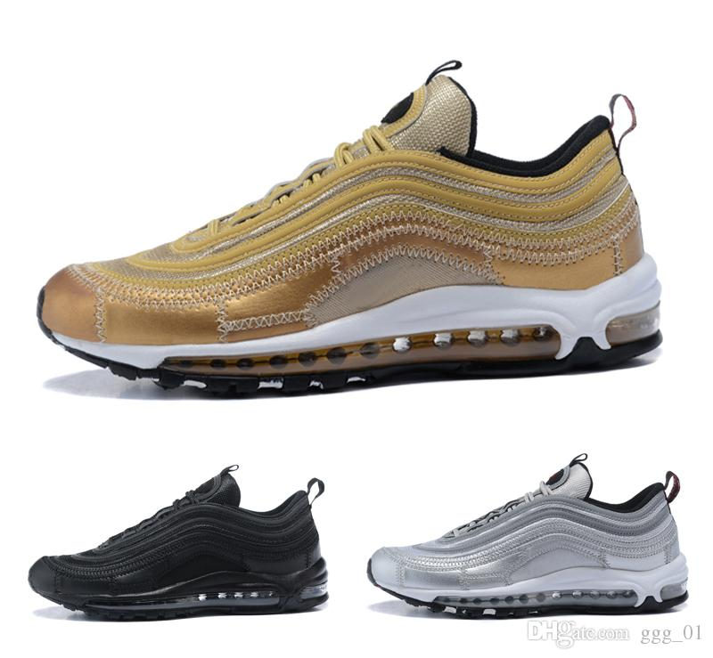 Silver Bullet  Metallic Gold New Cr Cristiano Ronaldo  Womens Mens Running Shoes Sport Sneaker For Men Euro Size   Good Running Shoes Skechers