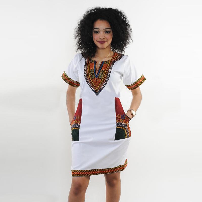 8b2f6722bb0 Acheter Robes Africaines Pour Les Femmes Imprimé Indien Plus La Taille  Dashiki Vêtements Robe Femme Boho Dashiki Tissu D été Sexy Hippie De  10.44  Du ...