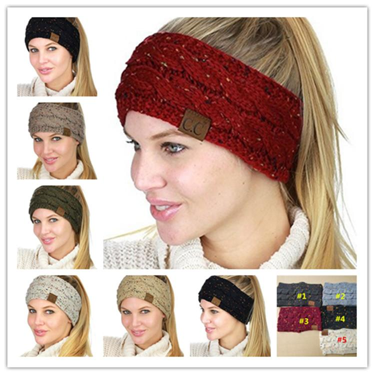 2018 Cc Knitted Headband Women Girls Winter Sports Headwrap Hairband  Crochet Turban Head Band Wrap Ear Warmer Headbands Hair Accessories Jewelry  From ... 14c172f3c