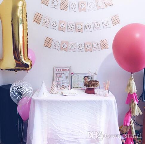 36 Pouce En Latex Ballons De Mariage Décoration D'anniversaire Fête De Noël Décoratif Nouveauté Enfants Enfants Jouet Balle Cadeaux Or Argent Clair 14 Couleur