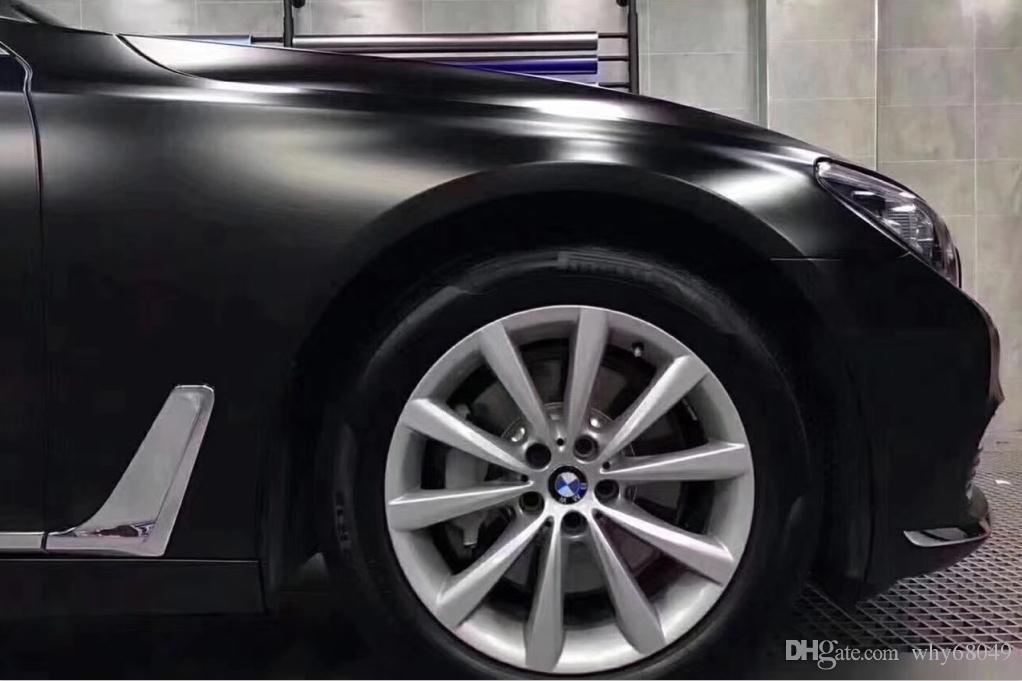 2019 1 52x20m Chrome Black Satin Vinyl Car Wrap Film For Vehicle