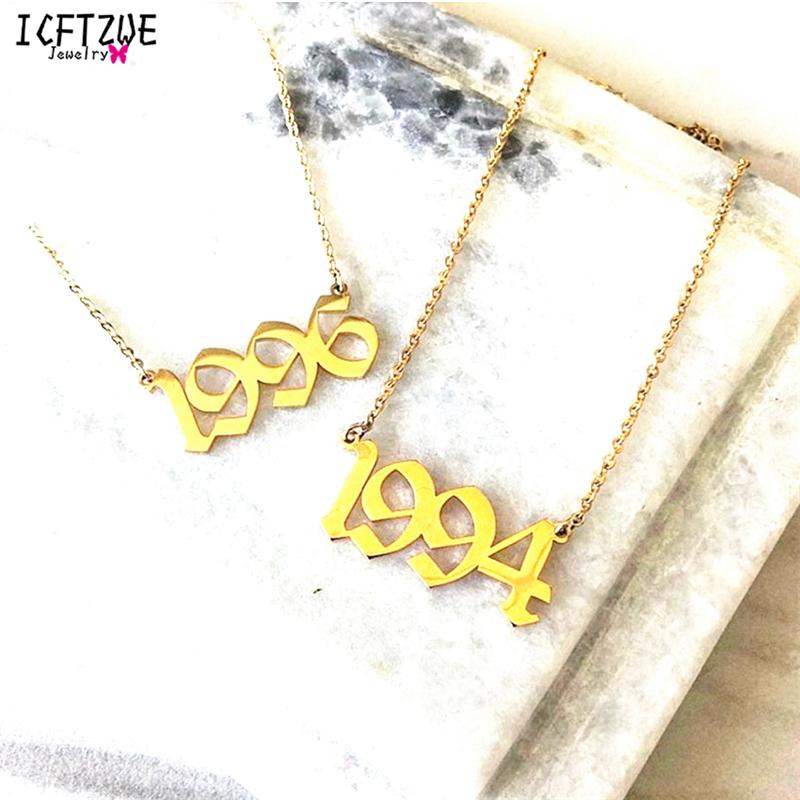 Wholesale Custom Jewelry Personalized Old English Number Necklace For Women  Statement Pendant Necklace Gold Color BFF Christmas Gift BFF Beaded  Necklaces ... 773f49a1d5