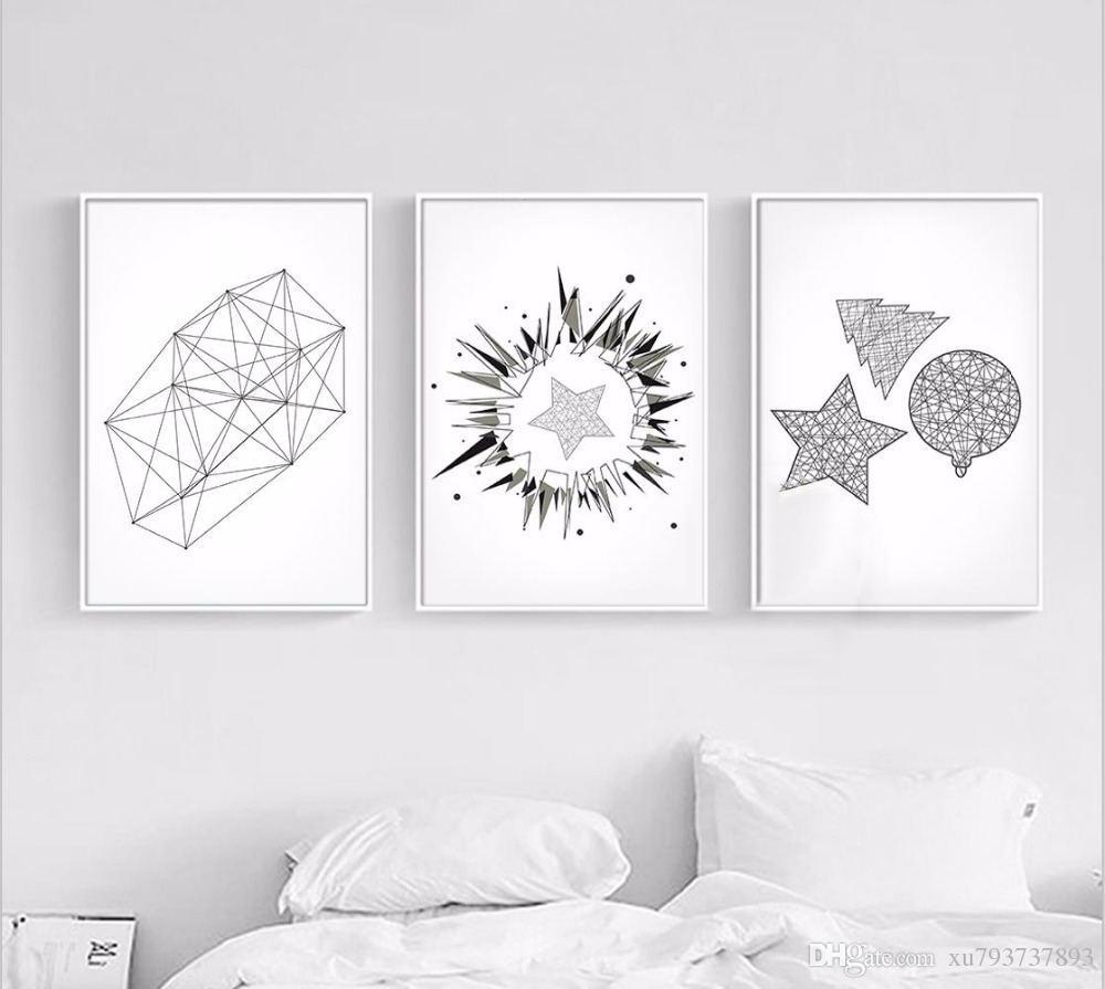Satın Al Baskı Hd Boyama Resim Iskandinav Geometrik şekiller Basit