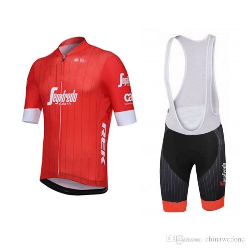 3910d4658 2018 Uci World Pro Team Red Yellow Mens Summer Cycling Jersey Kits ...