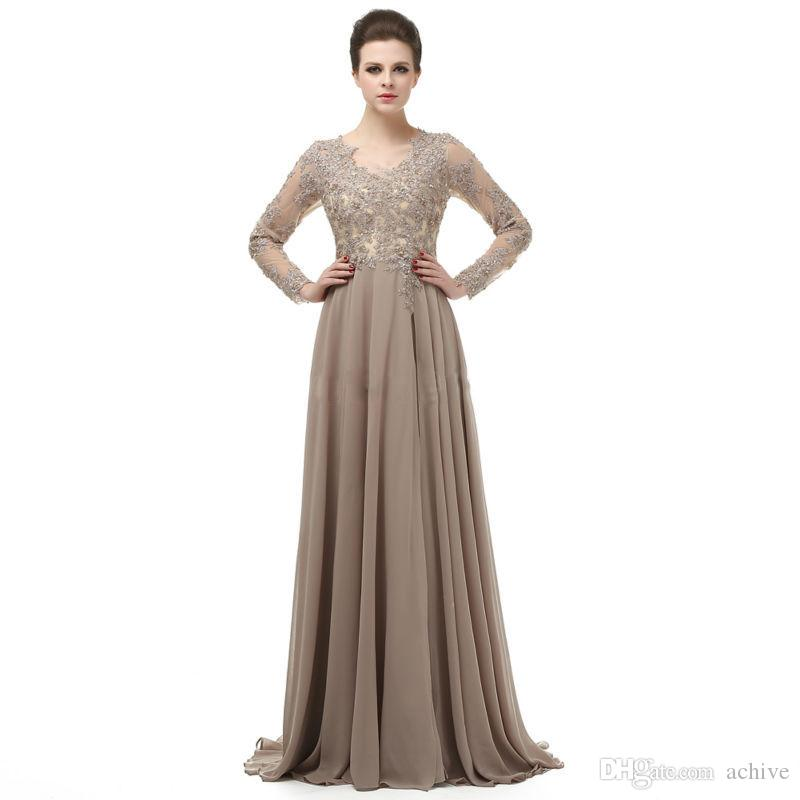 Unusual Mother Of The Bride Dresses: Unique Chiffon Lace Mother Of The Bride Dresses Long