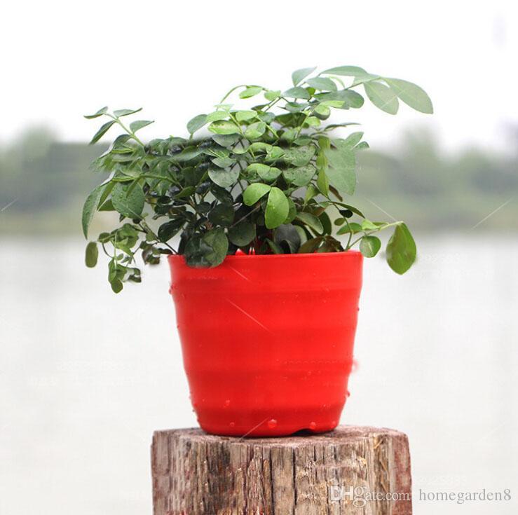 Hot Sale RetroStyle Plastic Bonsai Pot Balcony Square Flower Planter Nursery Pots Basin Maceta Cuadrada Wholesale