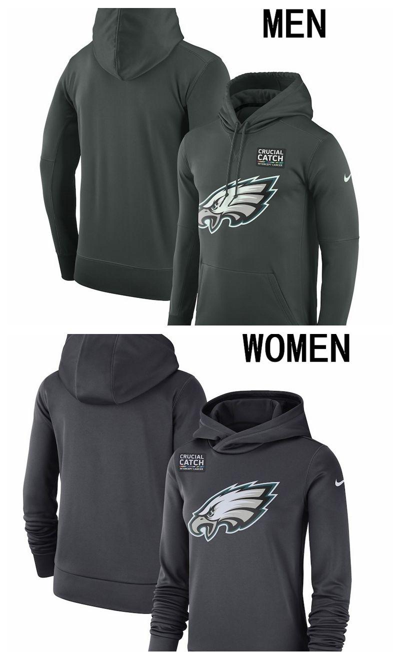 more photos e9549 afd3c Philadelphia men women Sweatshirt Eagles Crucial Catch Performance Hoodie  Anthracite