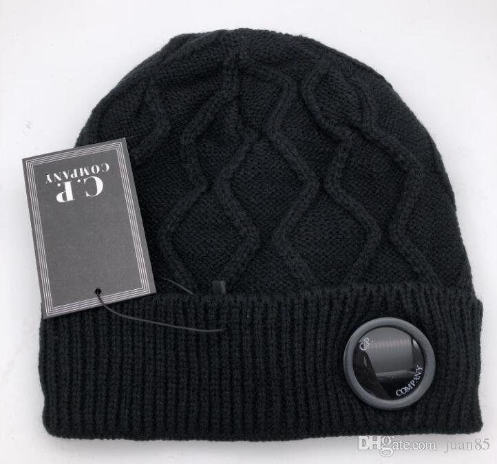 Cp Company Beanies Men Autumn Winter Thick Knitted Skull Caps