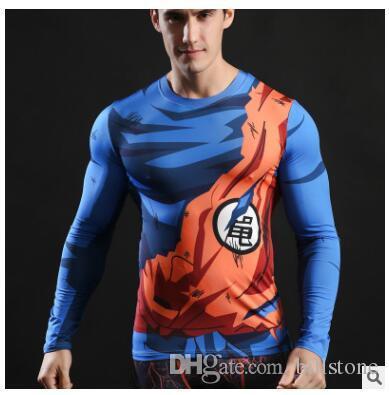 2017 Ball Z Männer 3D Dragon Balldragon ball t-shirt Männer anime shirt 3d t-shirt gedruckt kompression shirt tops Fitness t