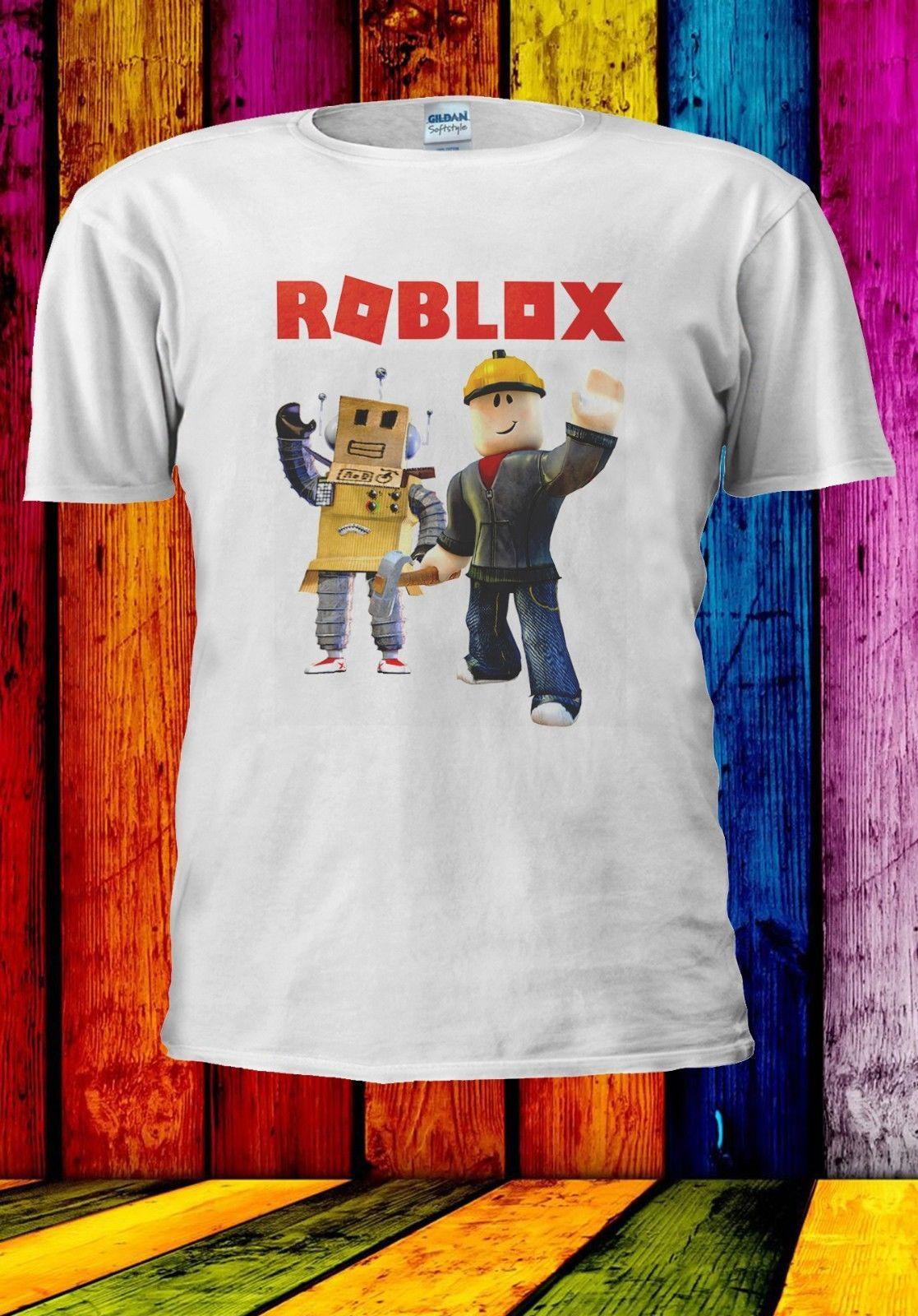 Roblox Builderman Box Robot Online Game Men Women Unisex T Shirt