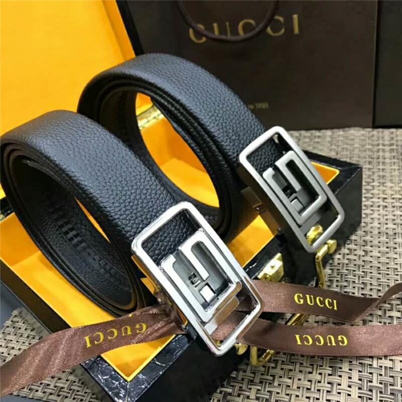 168ce3b10 2019 2018 Hot Men Real Leather Belts With Original Box W/3.5cm Automatic  Buckle Business Waistband Strap Top Quality Formal Dress Belt Girdle From  ...