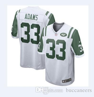 102466e79 14 Sam Darnold Jersey NY New York Jets 33 Jamal Adams Joe Namath Hot ...
