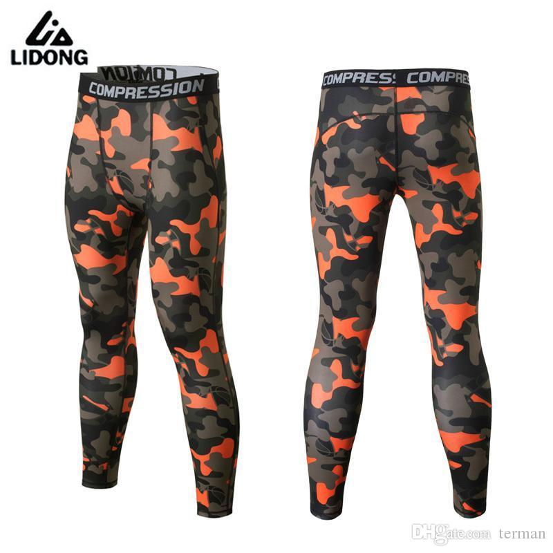 Compre Nuevos Hombres Pantalones De Compresión De Camuflaje Deportes Al  Aire Libre Medias De Piel Running Camo Pantalones De Entrenamiento De  Secado Rápido ... 2087e44f43314