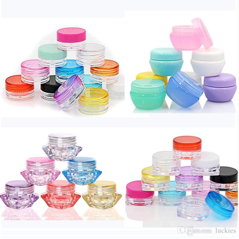 4ee4f6cc0659 DHL 5g/5ml Plastic Oil Wax Jar Box Plastic Clear Cosmetic Pot Jars Travel  Portable Eyeshadow Makeup Face Cream Container Bottle 0362