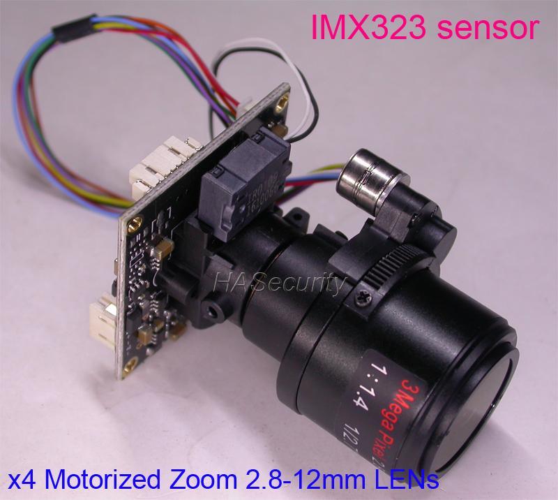 1080P AHD / TVI / CVI CVBS Motorized 2 8-12mm Zoom & Auto Focal 3 0MP LENs  1/2 9 Sony IMX323 NVP2440 CCTV camera module board