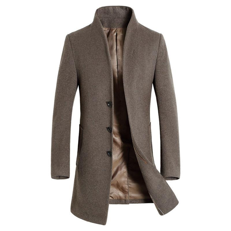 XMY3DWX 2017 new product fashion male premium brand Cashmere coat/Men Winter thickens and keeps warm long jackets/Trench coat