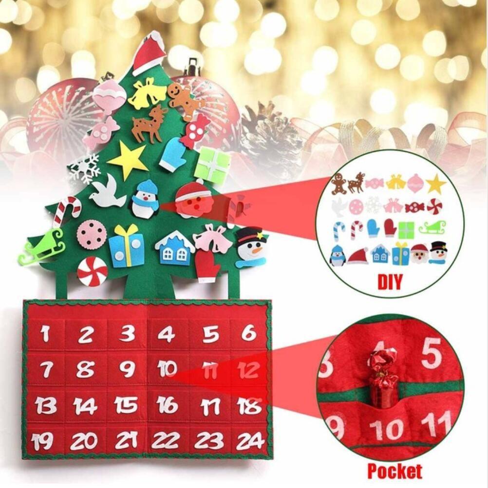 Felt Christmas Tree Advent Calendar: Christmas Tree Felt Advent Calendar Countdown To Christmas