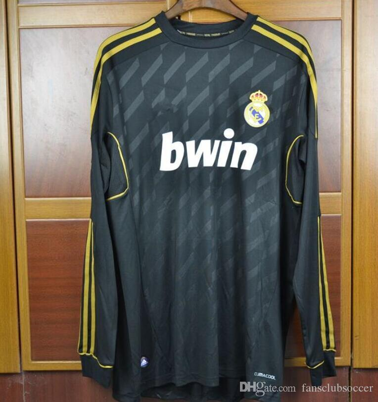 2019 Retro Jersey Real Madrid 2011 2012 White Black Home Away Red Real  Ronaldo KAKA Di María Ozil Alonso Shirts Long Sleeve Short Sleeve From  Fansclubsoccer ... 25ed7aa85