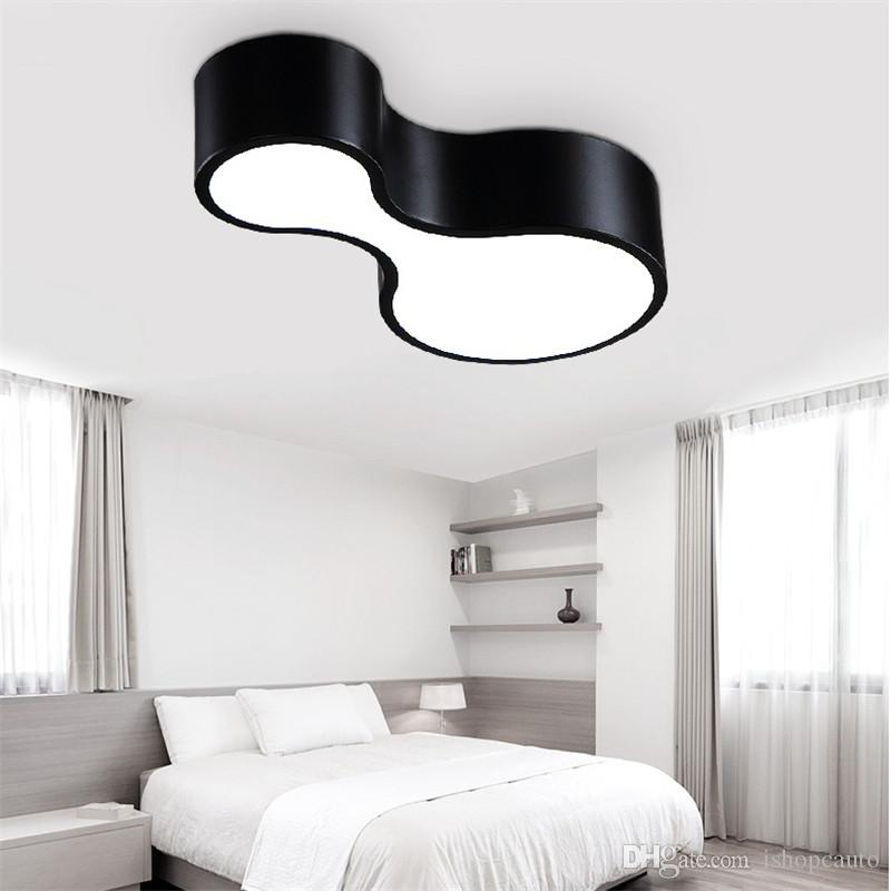 Modern Simple Personality Creative Bowling Black/white DIY Combination Iron  LED Ceiling Lamp Living Room Bedroom Lighting