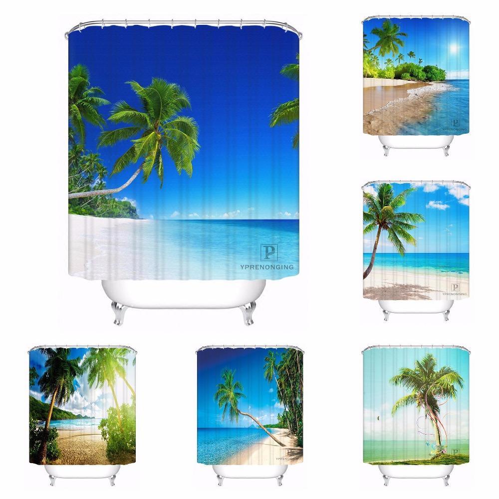 Custom Caribbean Beach Bathroom Acceptable Shower Curtain Polyester Fabric 180320 02 215 UK 2019 From Icelly 3148