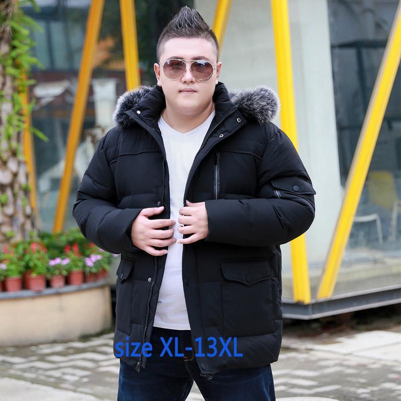 Neue Winter Männer Super Große Mit Kapuze Pelz Kragen Weiße Ente Unten Jacke Mode Trend Mantel Lose Beiläufige Plus Größe Xl-11xl12xl13xl Mutter & Kinder