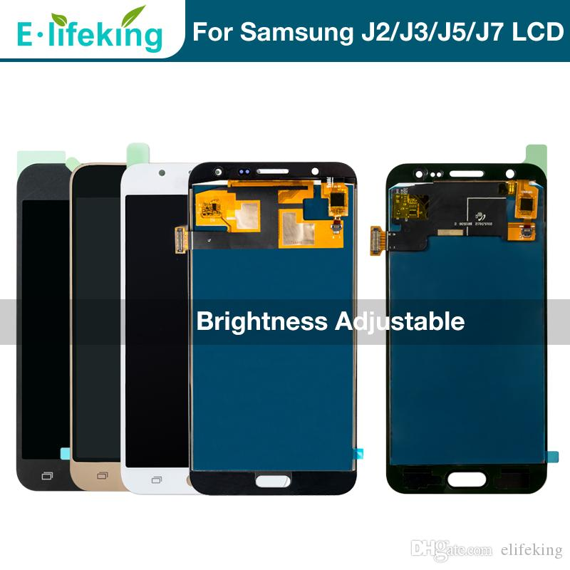 Wholesale LCD Display For Samsung Galaxy J2 J3 J5 J7 Touch Screen Digitizer  Assembly 100% Tested LCD Replacement