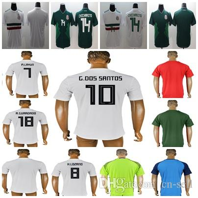 7dcb618c9 2019 MEN LADY KIDS MEXICO SOCCER JERSEYS 2018 World Cup GOALKEEPER LOZANO  CHICHARITO LOZANO DOS SANTOS HERRERA LAYUN Camisetas De Futbol From Cn  Sell