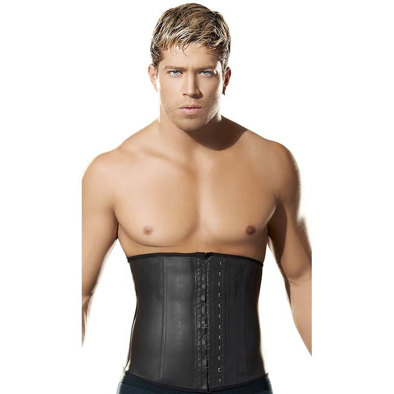 4e46250adba 2019 Male Slim Belt Waist Trainer Corsets For Men Compression Garment Waist  Shaper Latex Cincher Slimming Belt Men Body Shaper From Honry