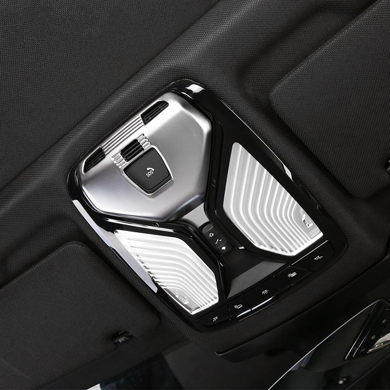 ABS Chrome Car Front Reading Light Lampshade Cover Trim for BMW 5 Series  G30 2017 2018 Interior Accessories Styling
